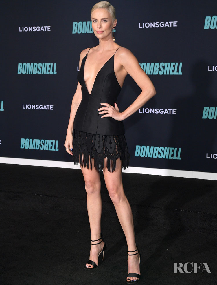 Charlize Theron Wore Christian Dior Haute Couture To The 'Bombshell' LA Premiere