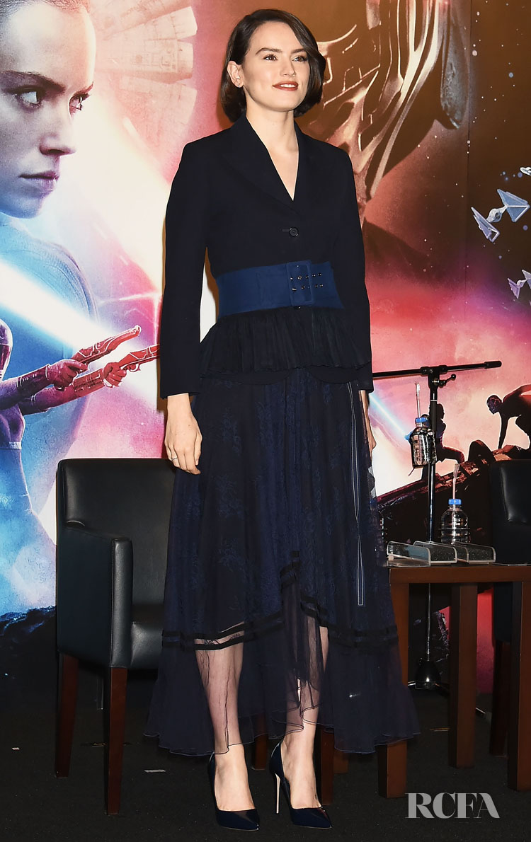 Daisy Ridley Wore Chloe To The 'Star Wars - The Rise of Skywalker' Tokyo Press Conference