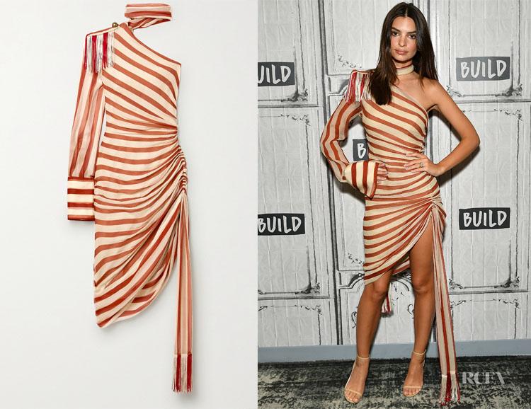Emily Ratajkowski's Monse Striped Dress
