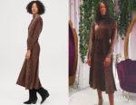 Catherine Kallon's H&M Patterned Dress