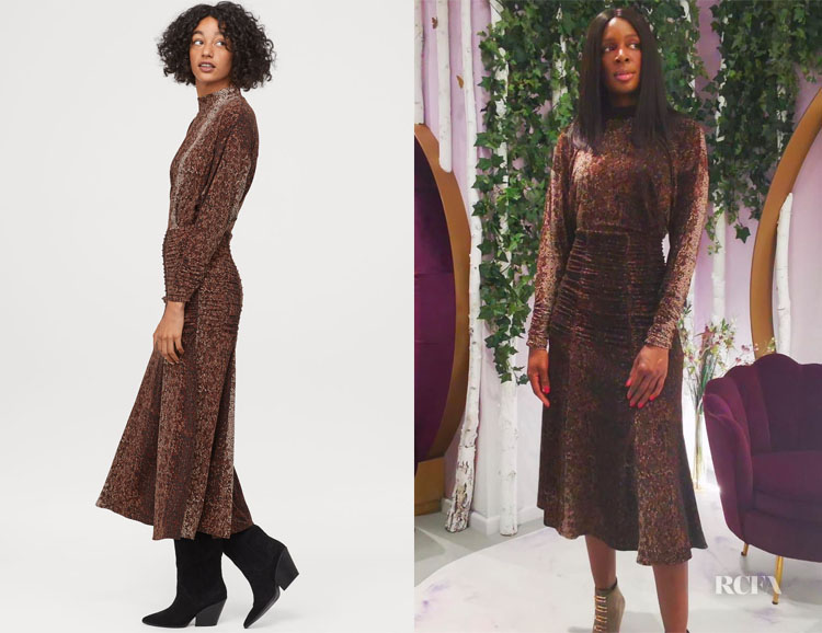 Catherine Kallon's H&M Patterned Dress
