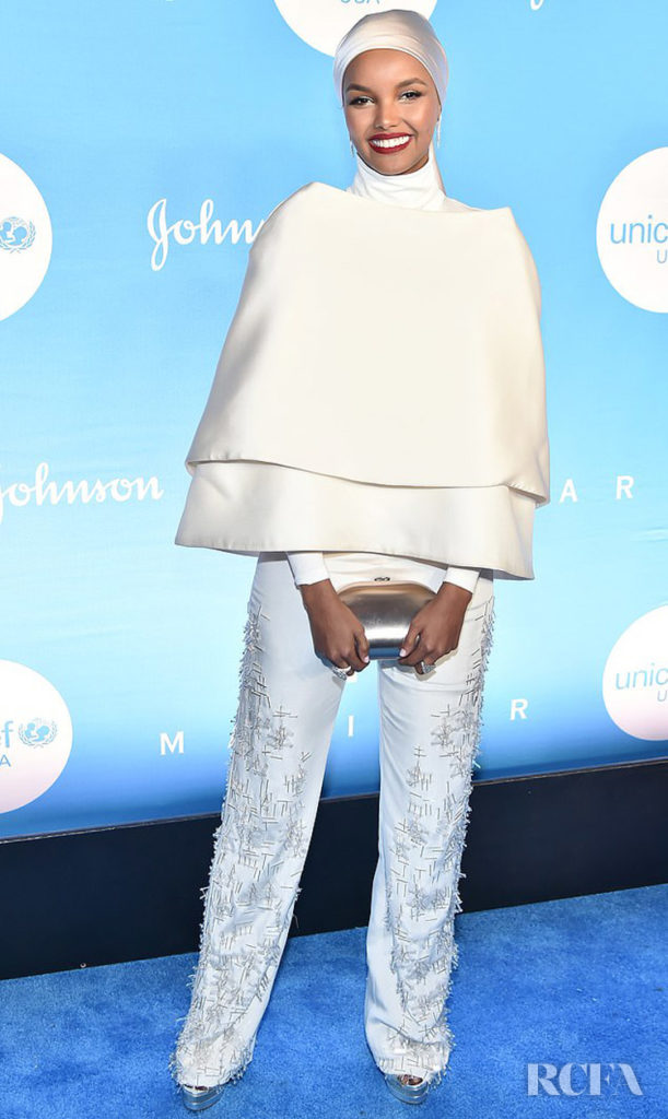 Halima Aden's Winter Whites For The 2019 UNICEF Snowflake Ball