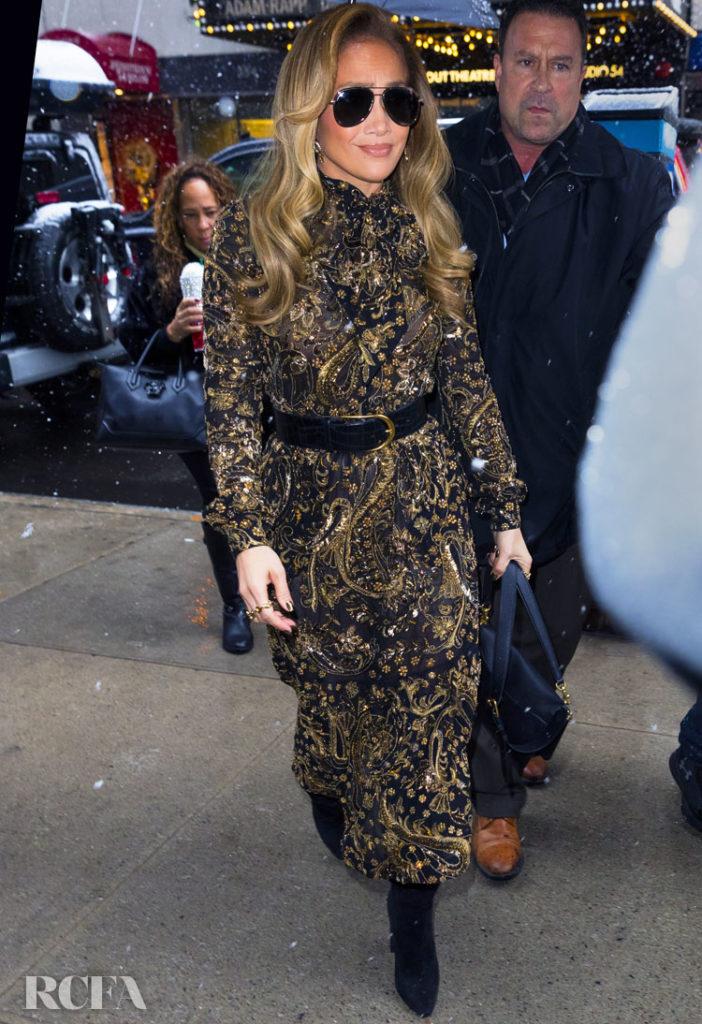 Jennifer Lopez In Dolce & Gabbana - Hustlers New York Screening