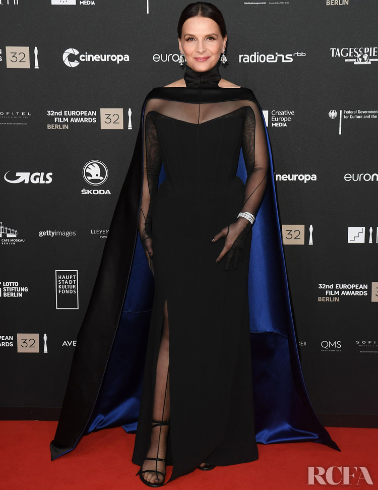 Juliette Binoche Wore Custom Mugler To The European Film Awards 2019