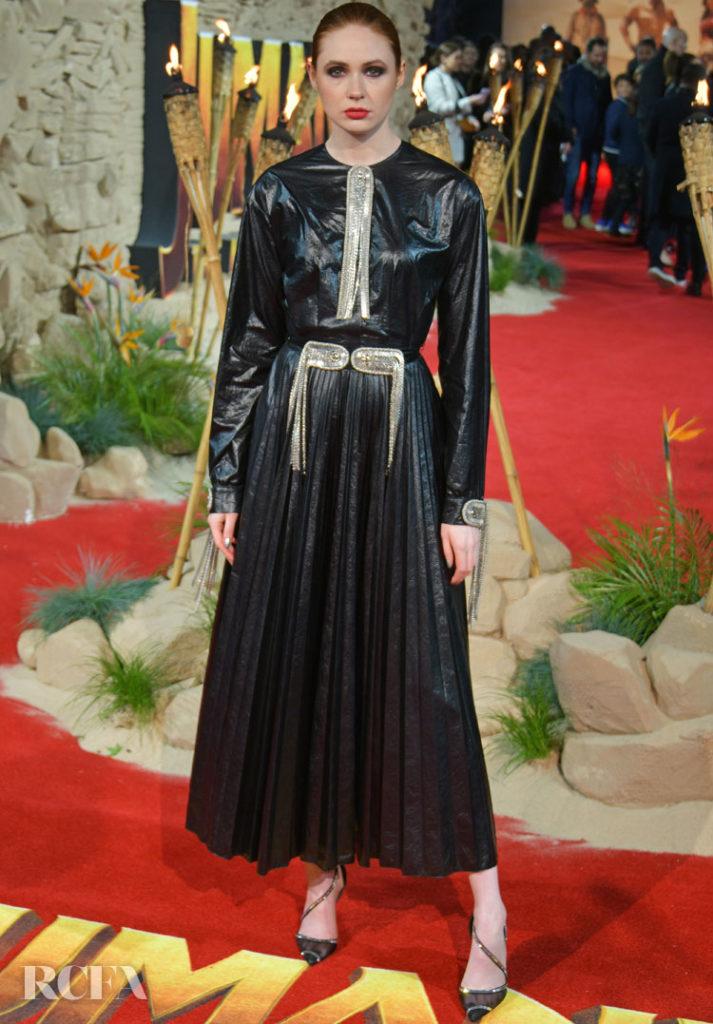 Karen Gillan Dons Christopher Kane For The 'Jumanji: The Next Level' London Premiere