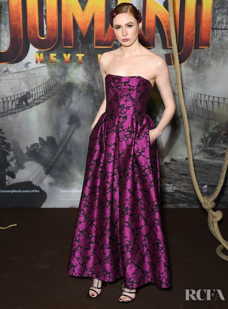 Karen Gillan's Flower Power For The 'Jumanji : Next Level' Paris Premiere