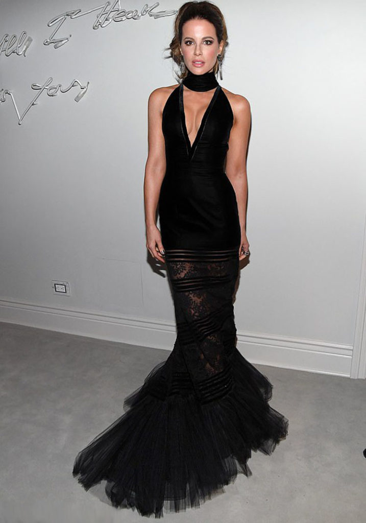 Kate Beckinsale Wore Georges Chakra Couture To Sean Combs 50th Birthday Bash