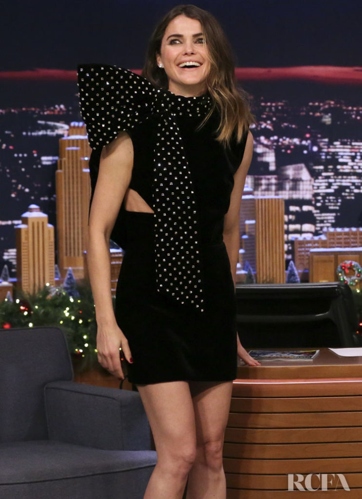 Keri Russell In Saint Laurent On Jimmy Fallon