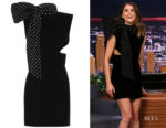 Keri Russell's Saint Laurent Embellished Velvet Dress