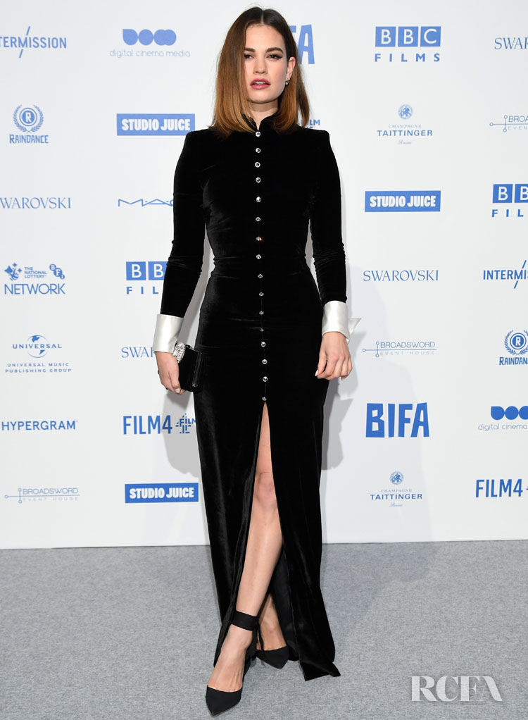 Lily James In Alessandra Rich - 2019 British Independent Film Awards