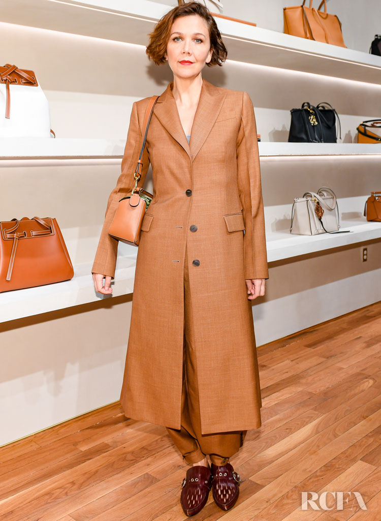 Maggie Gyllenhaal in Loewe  Loewe Celebrates The Opening Of Their First New York Store