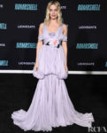 Margot Robbie Wore Giambattista Valli Haute Couture To The 'Bombshell' LA Screening