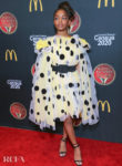 Marsai Martin Picks A Pretty Polka Dot Dress For The 2019 Bounce Trumpet Awards