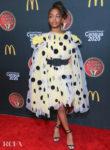 Marsai Martin Picks A Pretty Polka Dot Dress For The 2019 Bounce Trumpet Awards