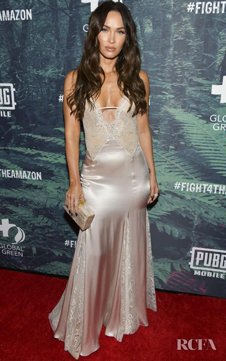 Megan Fox Wore Blumarine To The PUBG Mobile's #FIGHT4THEAMAZON Event