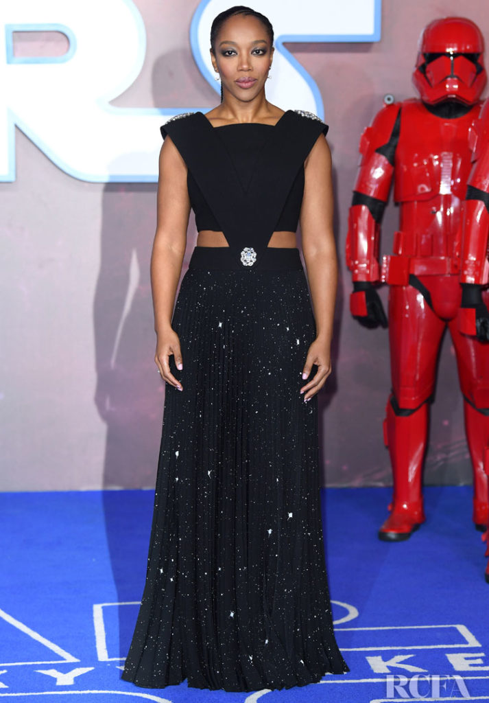 Naomi Ackie Wore Custom Christopher Kane To The 'Star Wars: The Rise of Skywalker' London Premiere
