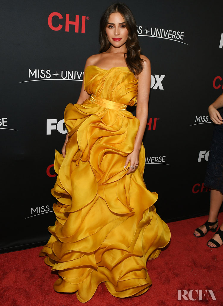 Olivia Culpo Was Radiant In Ruffles For The 2019 Miss Universe Pageant
