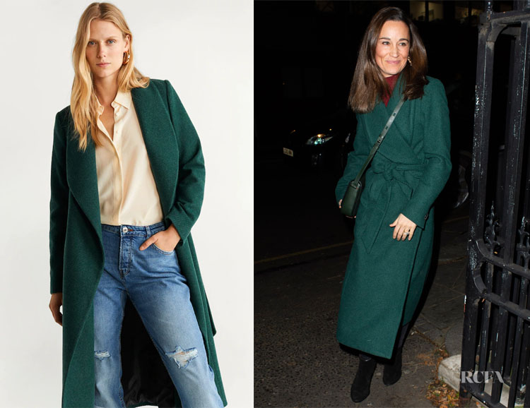 Pippa Middleton's MANGO Structured Wool Coat
