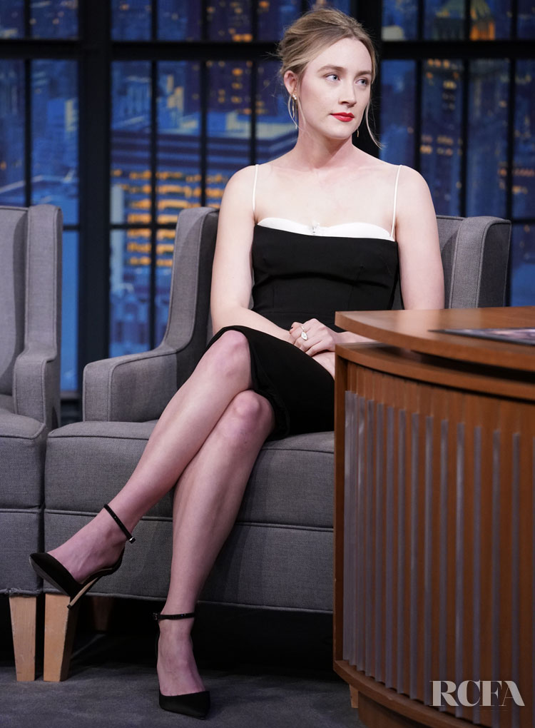 Saoirse Ronan Wore Haney On Seth Meyers