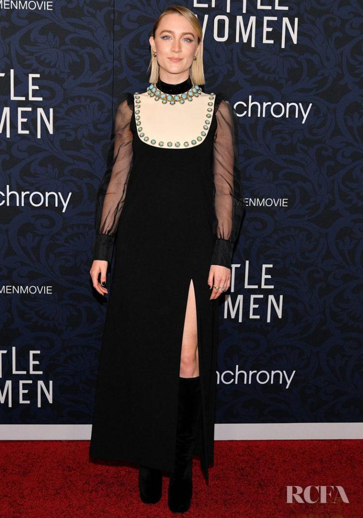 Saorise Ronan In Gucci - 'Little Women' New York Premiere