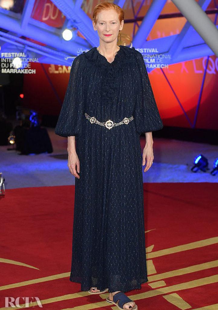 Tilda Swinton In Chanel - Marrakech Film Festival