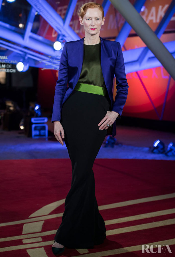Tilda Swinton Proves She Is The Perfect Muse For Haider Ackermann A The Marrakech Film Festival