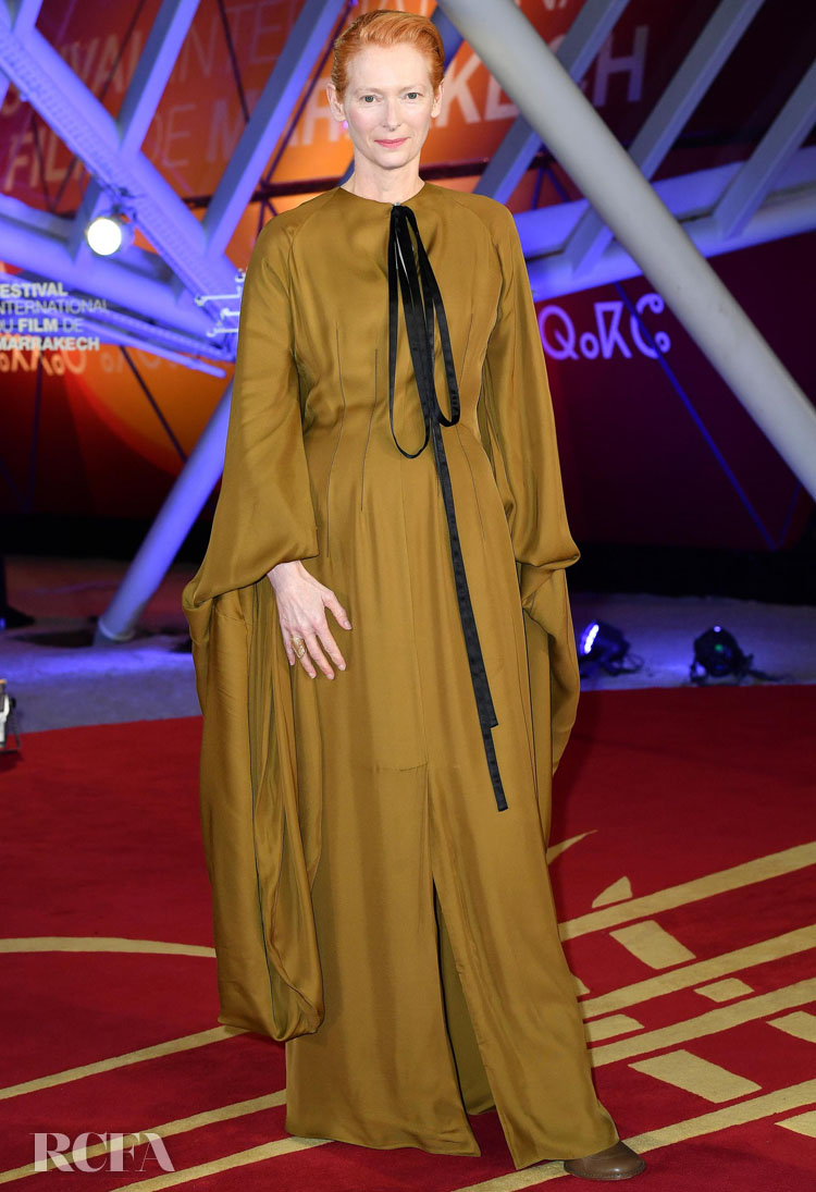 Tilda Swinton Wore Loewe Again For The 2019 Marrakech International Film Festival