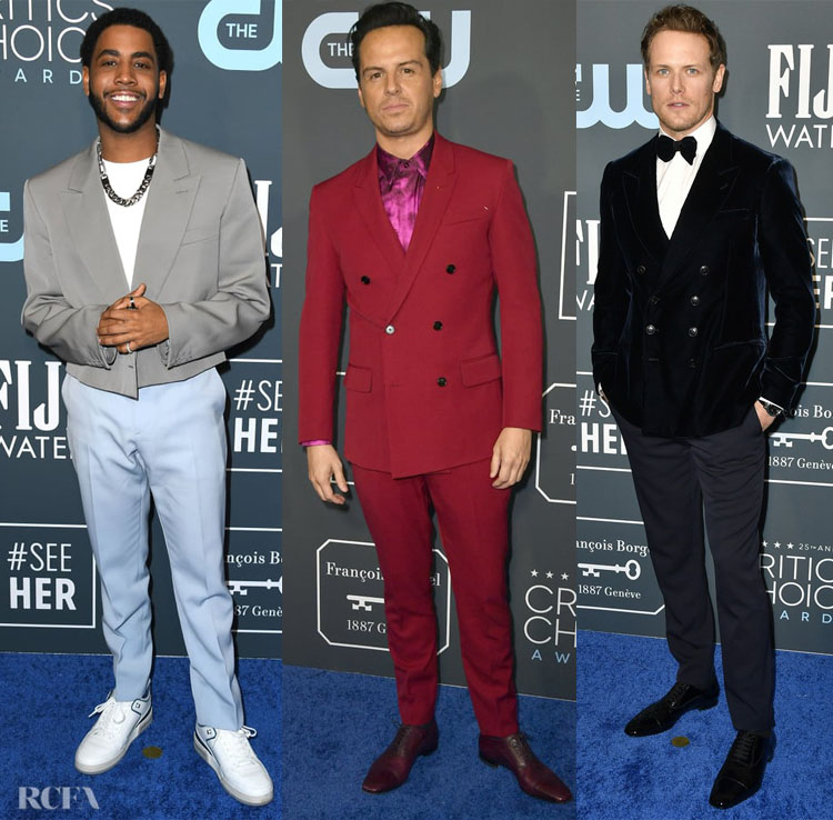 2020 Critics Choice Awards Menswear Red Carpet Roundup