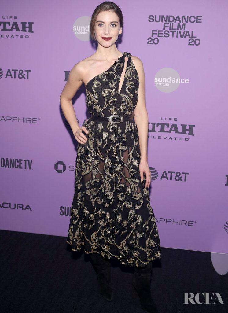 Alison Brie Wore Saint Laurent To The 'Horse Girl' Sundance Film Festival Premiere