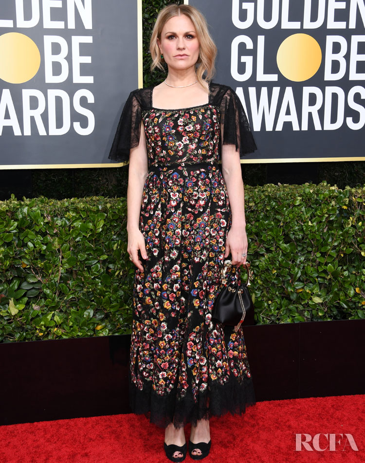 Anna Paquin dior 2020 Golden Globe Awards