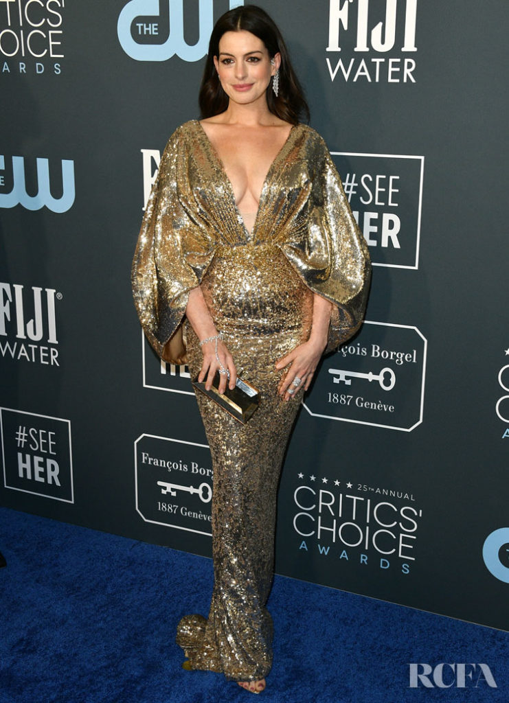Anne Hathaway In Atelier Versace - 2020 Critics' Choice Awards