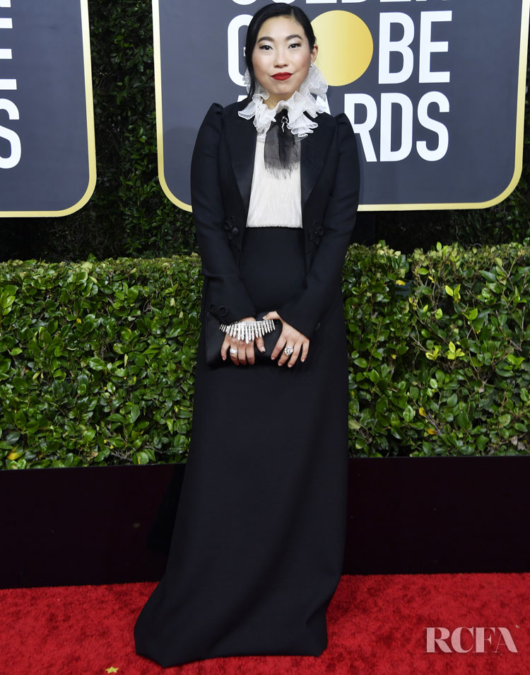 Awkwafina In Christian Dior Haute Couture - 2020 Golden Globe Awards