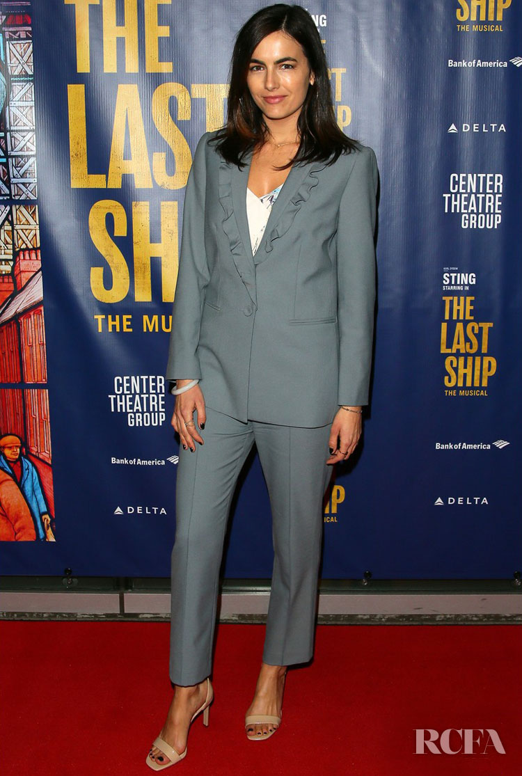 Camilla Belle Wore Rebecca Taylor To 'The Last Ship' Opening Night