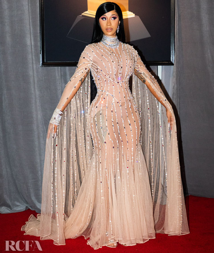 Cardi B In Mugler - 2020 Grammy Awards