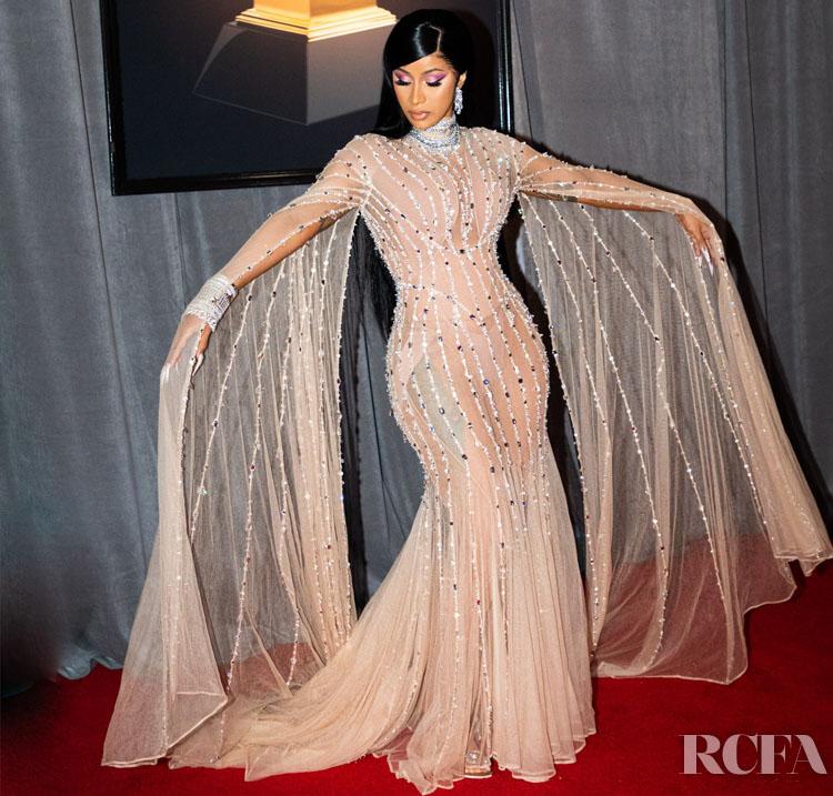 Cardi B In Mugler - 2020 Grammy Awards