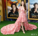 Carmel Laniado Wore Giambattista Valli To The 'Dolittle' LA Premiere