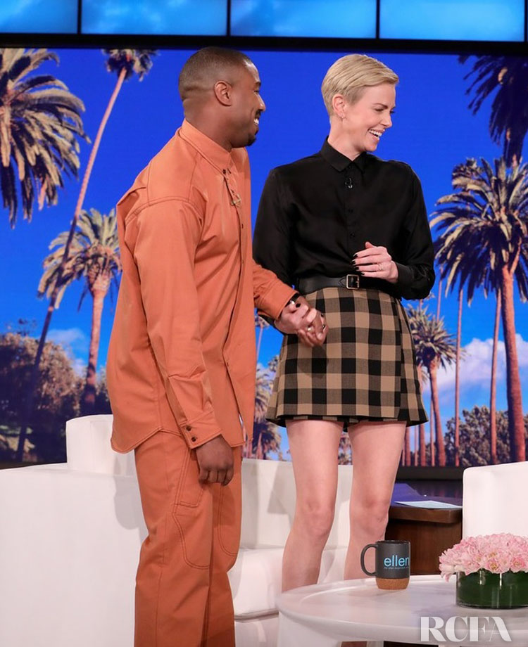 Charlize Theron Wore Christian Dior On The Ellen Show