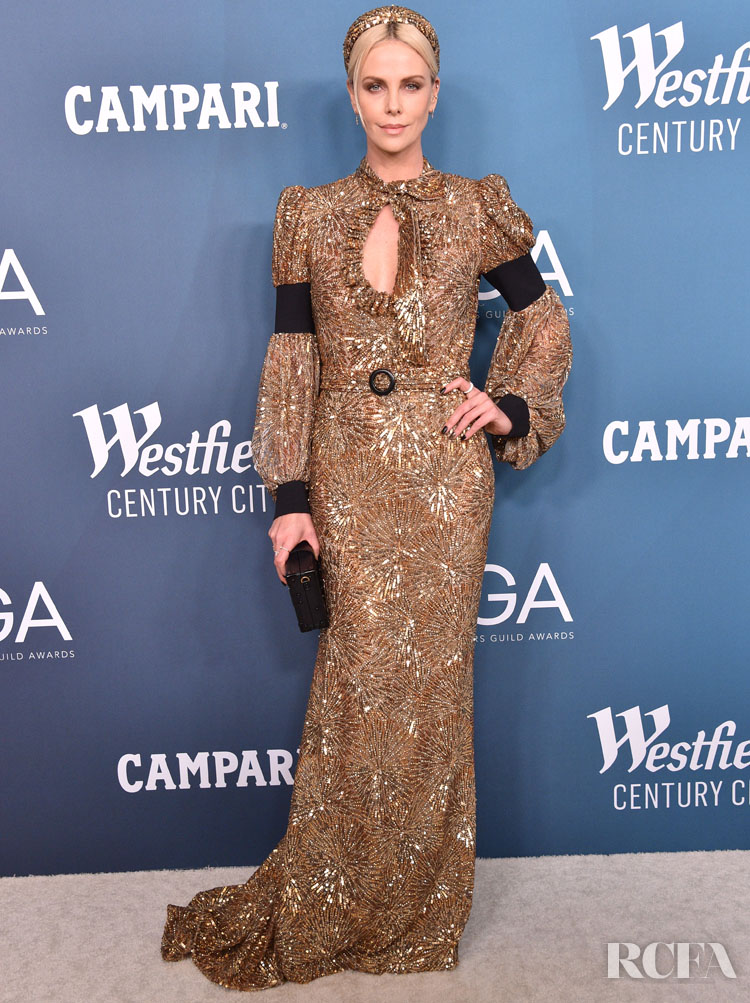 Charlize Theron Wore Louis Vuitton To The 2020 Costume Designers Guild Awards
