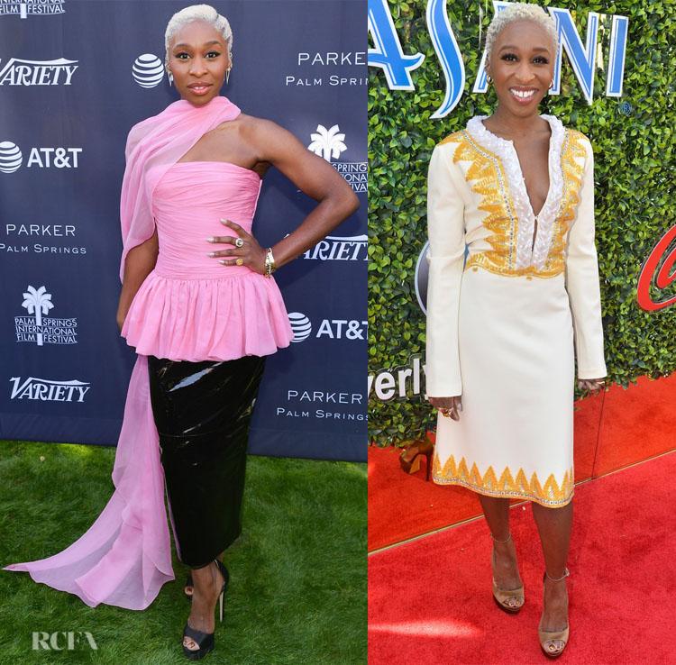 Cynthia Erivo's Pre-Golden Globes Red Carpet Looks