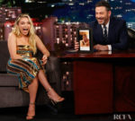 Florence Pugh Wore Galvan London On Jimmy Kimmel Live!