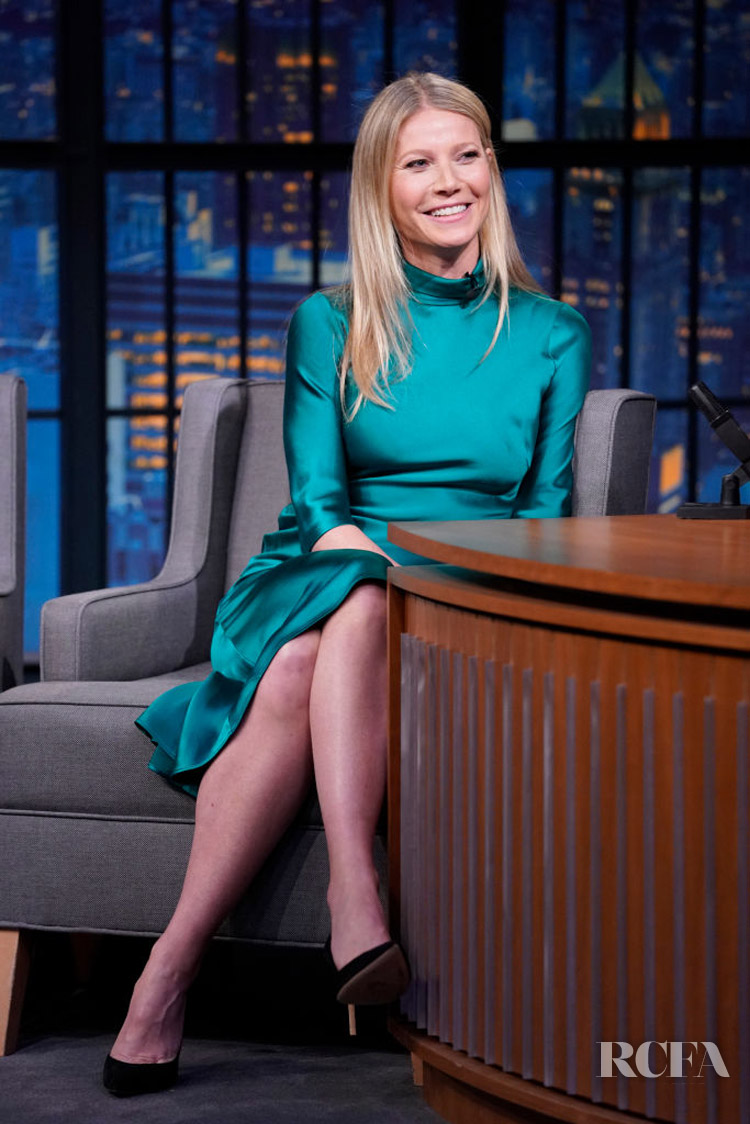 Gwyneth Paltrow Wore Galvan On Late Night With Seth Meyers