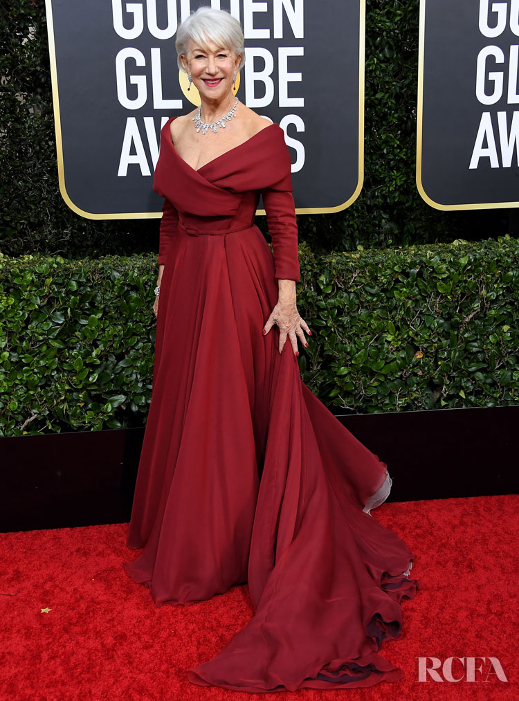 Helen Mirren In Christian Dior Haute Couture - 2020 Golden Globe Awards