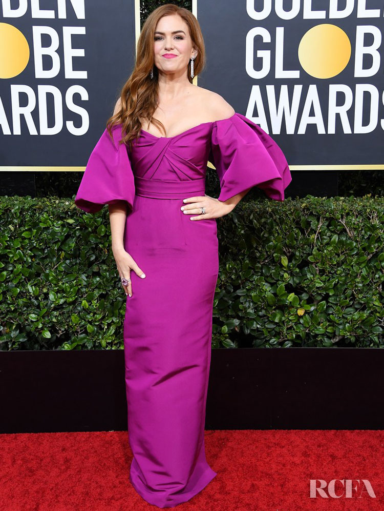 Isla Fisher  in Monique Lhuillier 2020 Golden Globe Awards