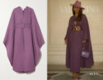 Janet Mock's Valentino Belted Wool Cape