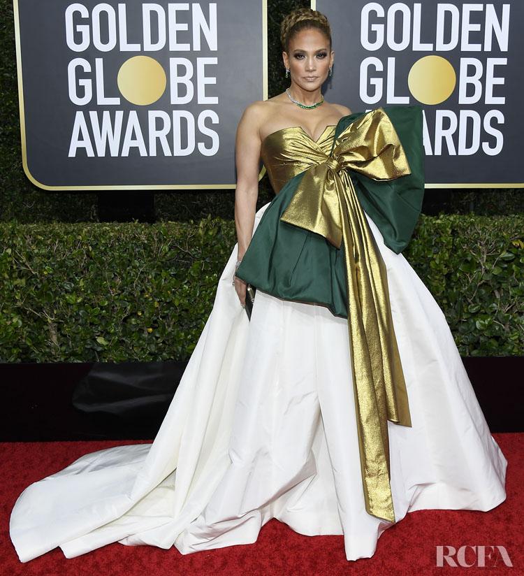 Jennifer Lopez In Valentino Haute Couture 2020 Golden Globe Awards