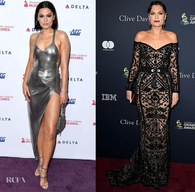 Jessie J's Pre-Grammys Style In Fannie Schiavoni & Zuhair Murad Couture