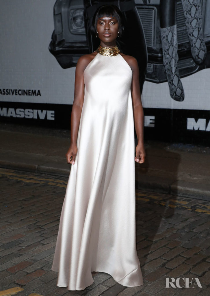 Jodie Turner-Smith Wore Reem Acra To The 'Queen & Slim' London Premiere