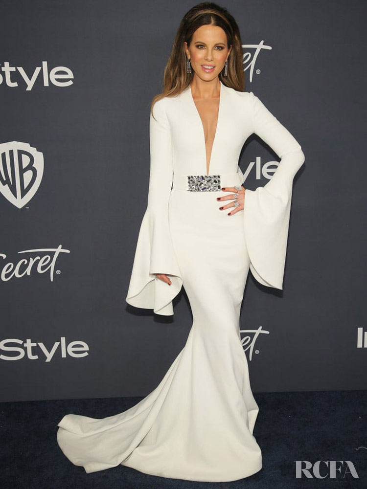 Kate Beckinsale Wore Romona Keveža Collection To The Warner Bros. And InStyle Golden Globe After Party