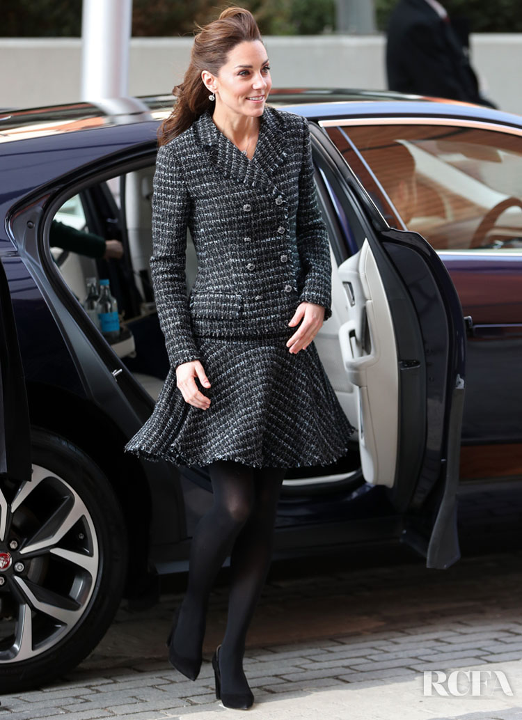 Catherine, Duchess of Cambridge Recycles For The Evelina London Children's Hospital Visit & UK Holocaust Memorial Day Commemorative Ceremony