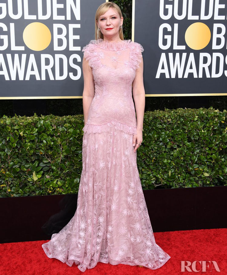 Kirsten Dunst In Rodarte - 2020 Golden Globe Awards